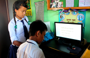 Provide six computers for Nepali school students