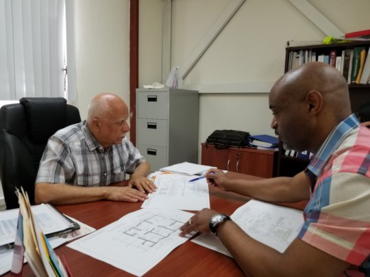 Designing final details for the Clinic Building