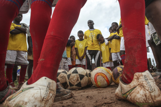 Joaquin Sarmiento capturing the power of football