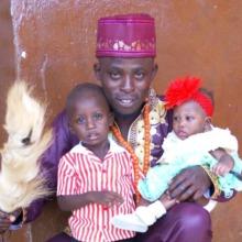 Arthur Pratt with his children Obatide and Jaye
