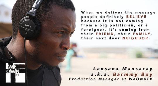 Lansana Mansaray, Freetown Media Center manager