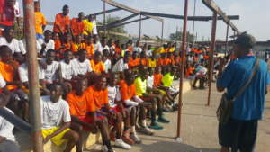 SeconDaryl school kids waiting to receive gifts