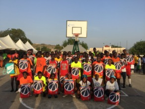 Kids enjoying there bags from Washington Wizards