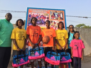 Female 3 on 3 competition winners.