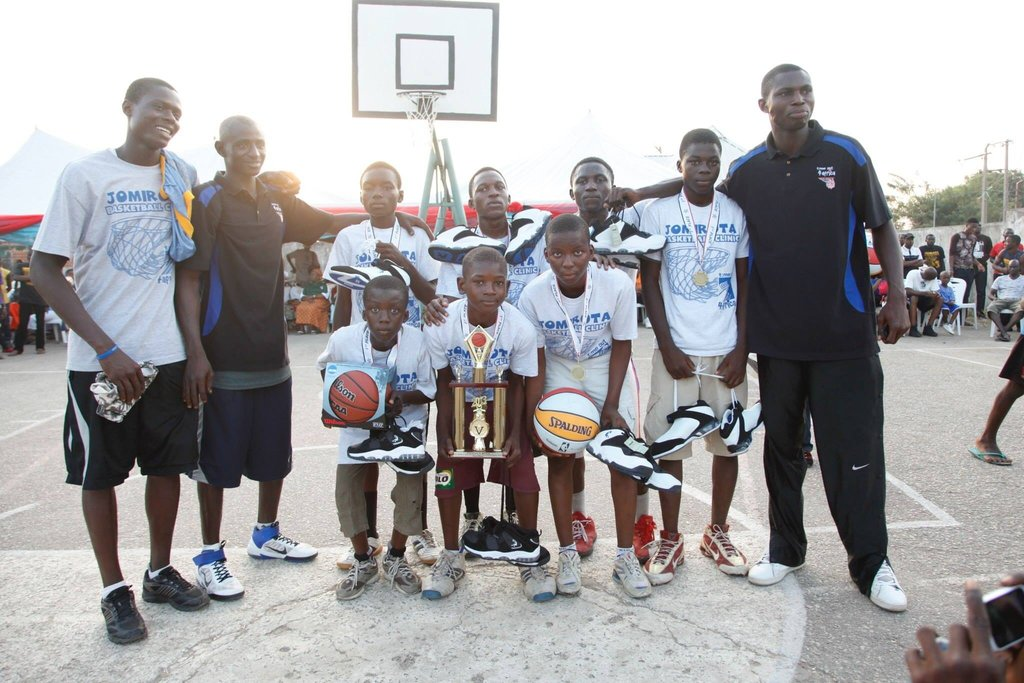 Basketball Clinic for 500 school kids in Nigeria