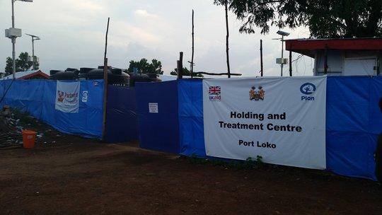 Ebola unit in Port Loko where I worked