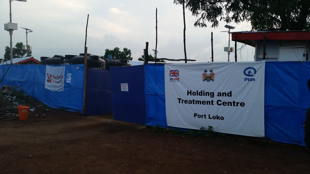 Ebola unit in Port Loko where I worked