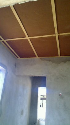 Hardboard for the ceiling