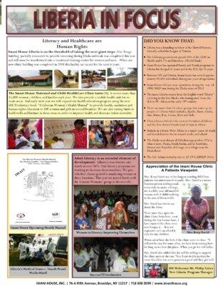 Imani House Speaks Newsletter - Overview Liberia