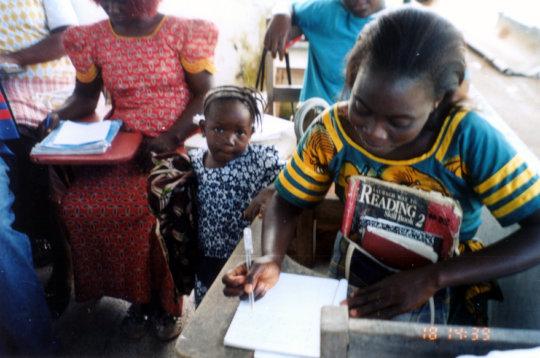 Student in Literacy Program