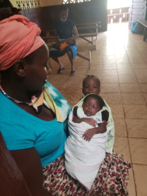 Madonna & Child at Clinic for Post Natal Care