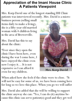 Clinic's importance Testimonial from a Mother