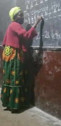 Student Imani House Liberia Literacy Class