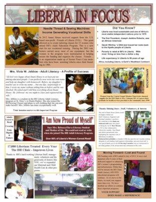 Imani Speaks Newsletter 2013