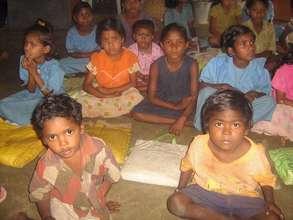 Children in class at Mathikai school