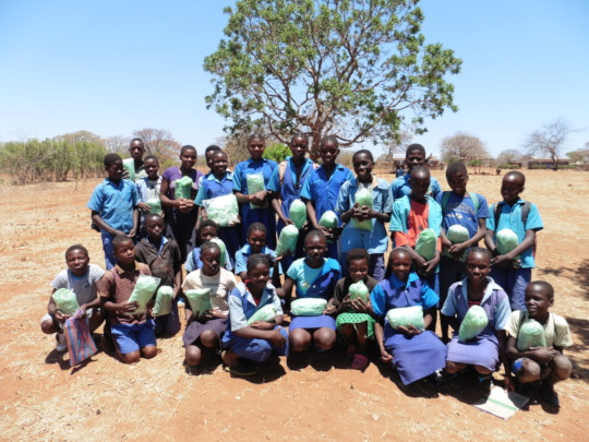 Kamwi Junior School Pupils Receive Mosquito Nets