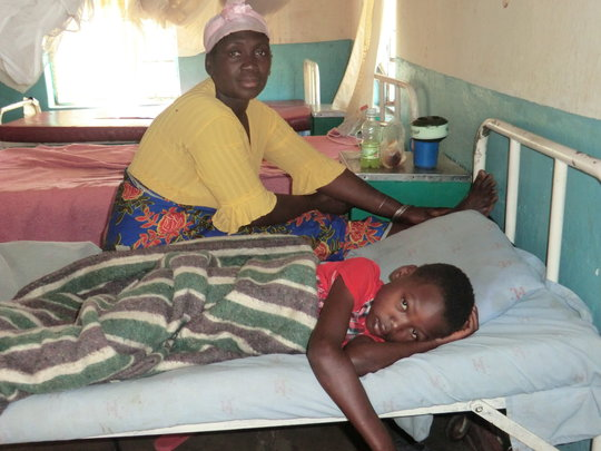 Young boy with malaria