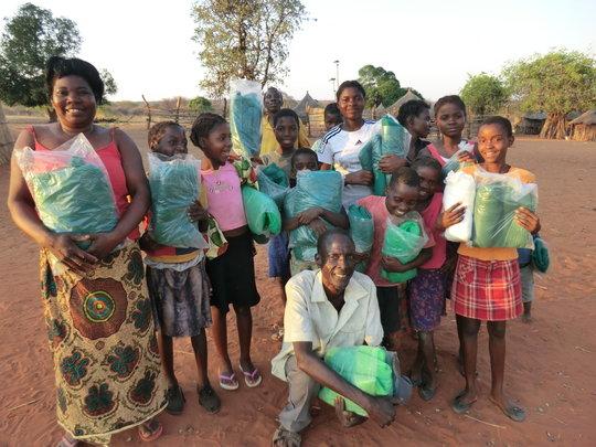 Distributing Mosquito Nets