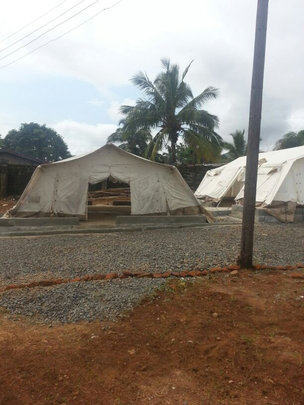 Ebola Isolation Tent (by Greatest Goal Ministries)