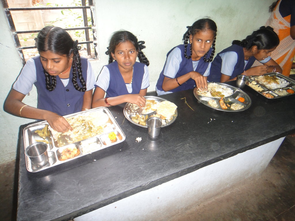 Healthy food for 300 visually challenged children