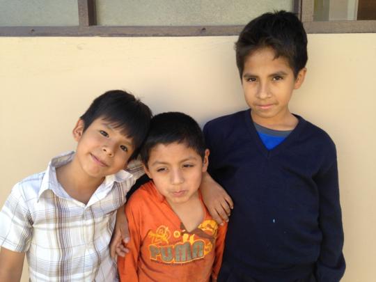 Bolivian Children at Community Service Clinic