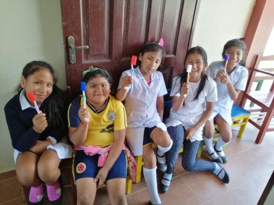 Maria del Rosario School beneficiaries