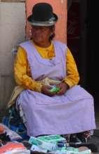 Vivid image from Bolivian market