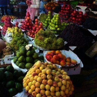 Pyramids of fruit from a Bolivian jungle market
