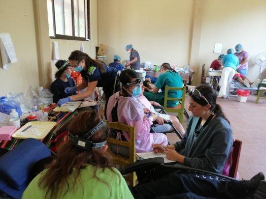 SDF, GIC, Resin, dental units at mobile clinic