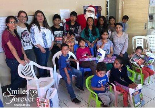 Santa spreading cheer to many
