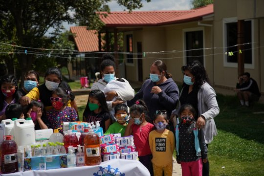 Care Packages Table at Cochabamba shelter