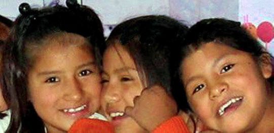 Smiling Bolivian Children