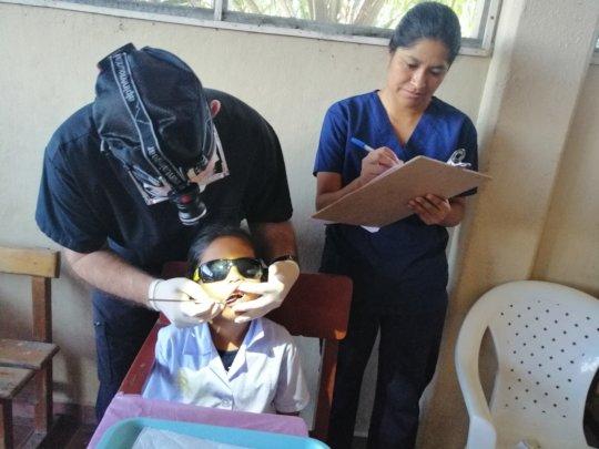 Dr. Duffin & Hygienist A. Maldonado during survey