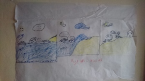 A student storyboard about Hicatee nesting.