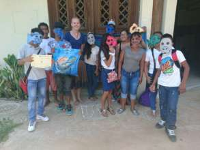 Annalisa with performers & Griselda from FUNDAECO