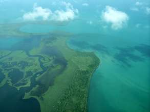 Aerial Photo of the Gulf of Honduras