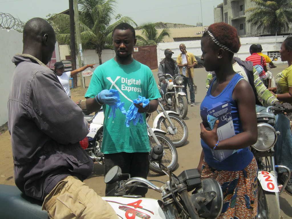 New Kru Town MotorCyclist Union Rep Sharing Gloves