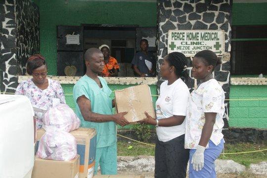 Peace Home Medical Clinic rcv'g MedsShare supplies