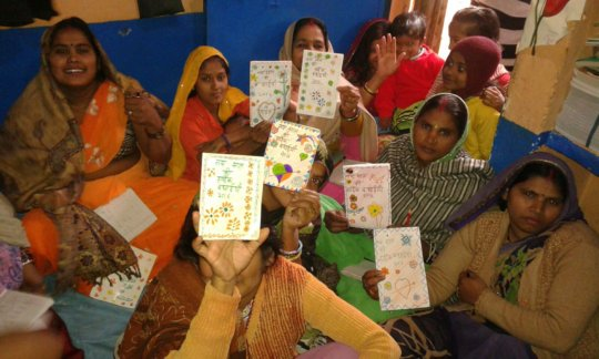 Greeting cards made by beneficiaries