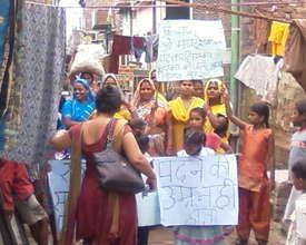 world literacy day rally in slum area