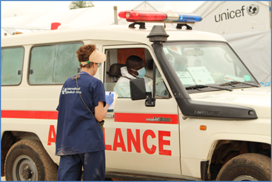Ambulance support for Ebola Treatment Centers