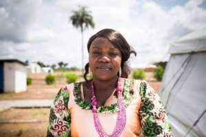 Mariatu helps other survivors cope with their pain