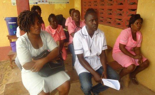 Nurses in training at Kabala, Koinadugu