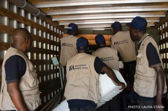 Logistical teams preparing for deployment