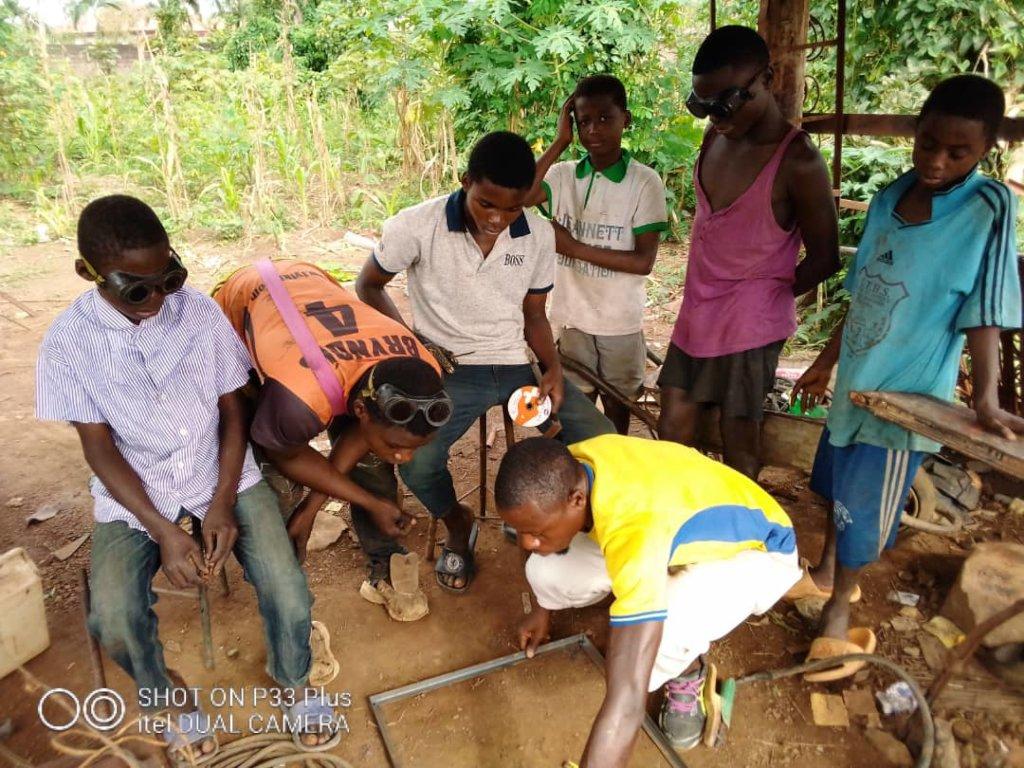 Children at Welding workshop