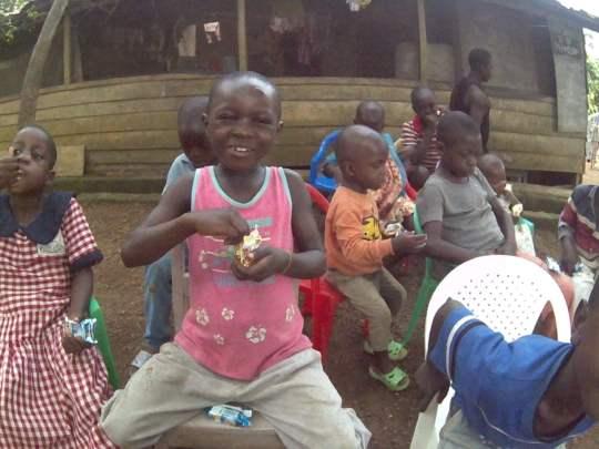 Azebeke enjoying some treats