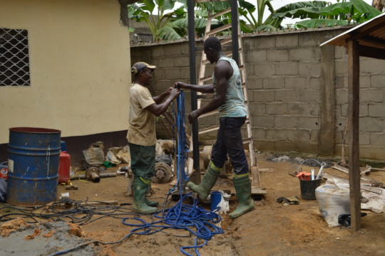 Project to construct a bore hole in Father