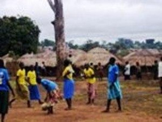 TKL Girls' netball in Gulu IDP camp