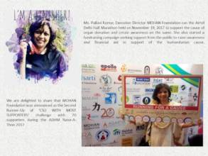 Awareness through Airtel Delhi Half Marathon