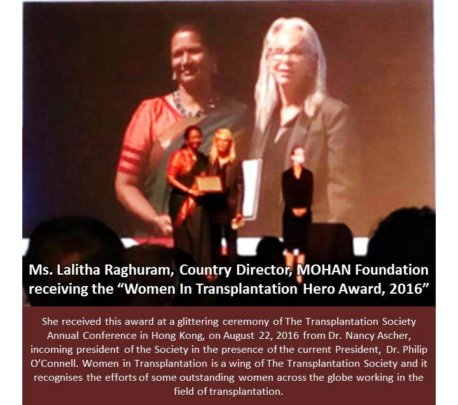 Country Director,MOHAN Foundation honored